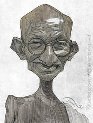 Gandhi illustration portrait by StDamos