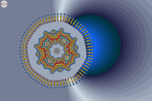 JLF1436 The Mandala and the Blue Ball by jlfractals
