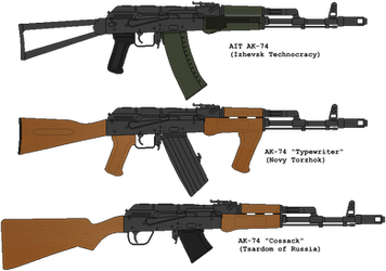 Variaty of Russian Wastelands AK-s by DaltTT