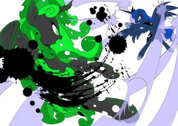 Dream Eater VS Dream Watcher (no bg) by x-Darkie-x