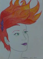 Flame hair by lemoncurrymeetsyoshi