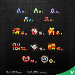 Custom sub badges and emotes - Visuals By Impulse by LizHeidern