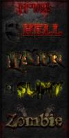 Horror Photoshop Styles by survivorcz