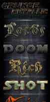 Metallic Grunge Photoshop Styles by survivorcz