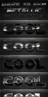 Dark Silver Metallic Photoshop Styles by survivorcz