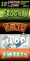 Cartoon and Comic Book Photoshop Styles - part 5 by survivorcz