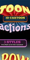 3D Cartoon Text 2 - Photoshop Actions by survivorcz
