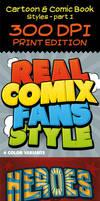 Cartoon and Comic Book Styles - 300 DPI - Part 1 by survivorcz