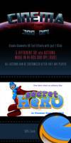3D Cinematic - 300DPI - Text Actions by survivorcz