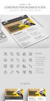 Construction Business Flyer Template PSD by survivorcz