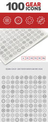 100 Gear Icons by survivorcz