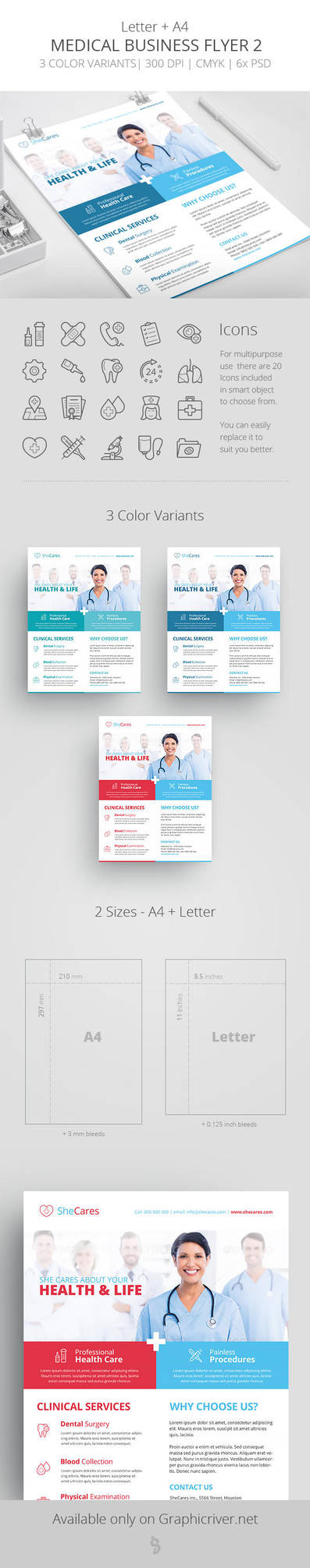 Medical Business Flyer Template 2 by survivorcz