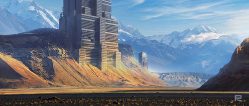 MOUNTAIN DEMO Mattepainting Concept by rammmon