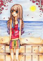 . the beach . by hoshicho