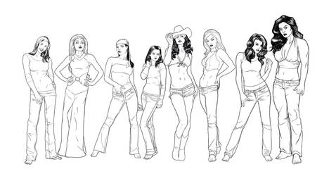 Women of Marvel lines by sean-izaakse