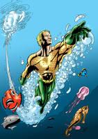 Aquaman colour by sean-izaakse