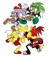 Perci/Zooey vs Scourge/Fiona by rikdraws