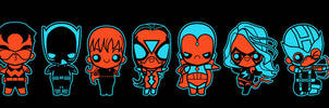 chibi avengers 002 by marisolivier