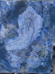Mermaid In Blue by AydenSilverflame7