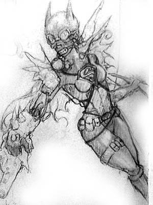 Batsuit Supergirl by AydenSilverflame7