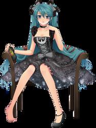 Miku Render (Vocaloid) by BlackRabbit-25