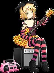 Kagamine Rin Render (Vocaloid) by BlackRabbit-25