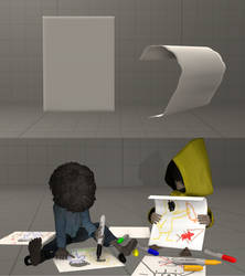 Foldable paper model by Mela-the-cat