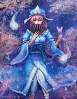 Yuyuko Saigyouzi by tafuto001