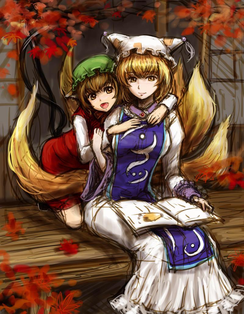 Ran Yakumo and Chen by tafuto001