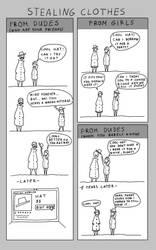 Stealing clothes- an observatory comic by BlueBitArt