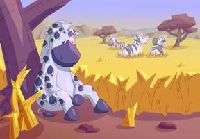 The Polka-Dot Zebra by Enzoda