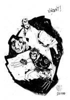 Sketchbook Sketch 2013: Hellboy and Wolvie! by alessandromicelli