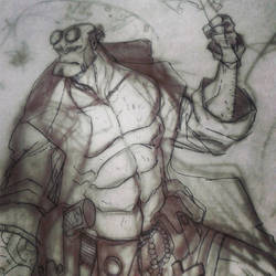 W.I.P. HELLBOY - Spirits of the forest by alessandromicelli