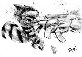 Rocket Raccoon by alessandromicelli