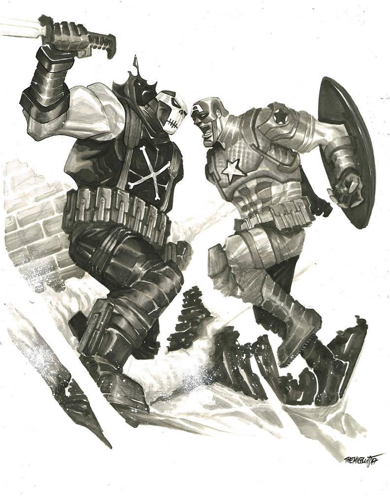 Crossbones vs Cap by alessandromicelli