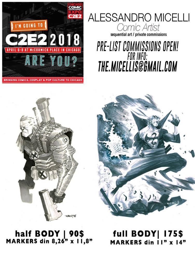 C2E2 pre list commission OPEN! by alessandromicelli
