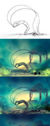 WIP of danser avec ses chaines by AquaSixio