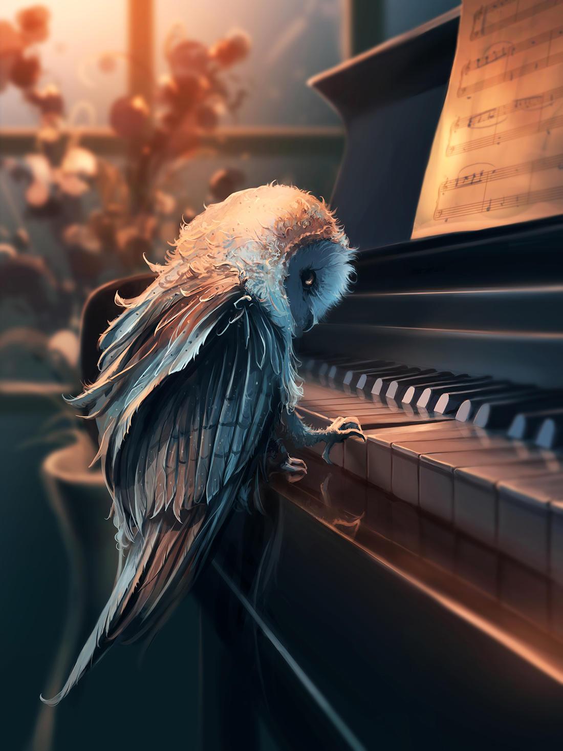 Piano Lesson by AquaSixio
