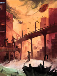 Castaway in Stardust City by AquaSixio