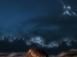 Bonfire at Night by TheStockWarehouse