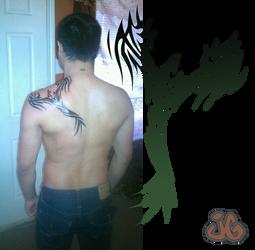 Tribal Phoenix, Tattoo Design by DigitalMenace