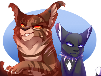 Tigerstar and Scourge by Dreaming-Roses