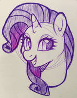 Rarity Sketch by Dreaming-Roses