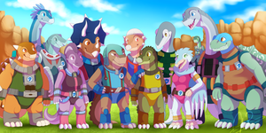 [COMMISSION] New Dinosaucers by Dreaming-Roses