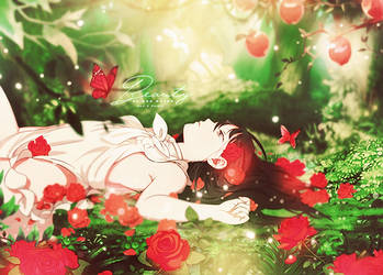 Beauty of red roses (COLLAB) by MateNeo