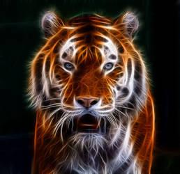 Fractal Tiger 2017 by mceric