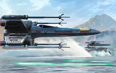 X-Wing Full Throttle by KMIStudio