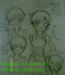 2AM Sketches: Nora and Friends 01 by khfan12