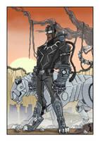 Black Panther steampunk by JohannLacrosaz