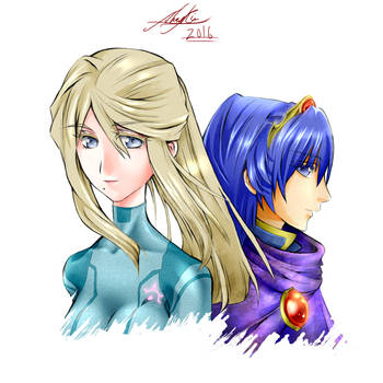Samus x Marth (Crossover) by Shay-rin